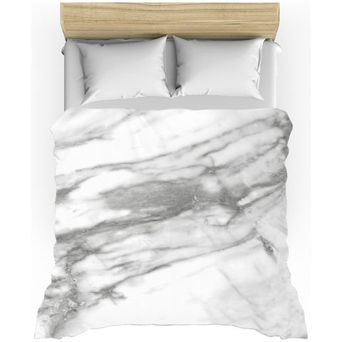 Hard Rays White Marble Duvet Cover - GLUSH/ - 1