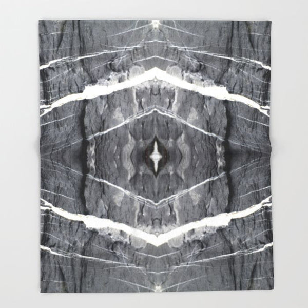 HARD RAYS GREY THROW BLANKET - GLUSH/ - 5