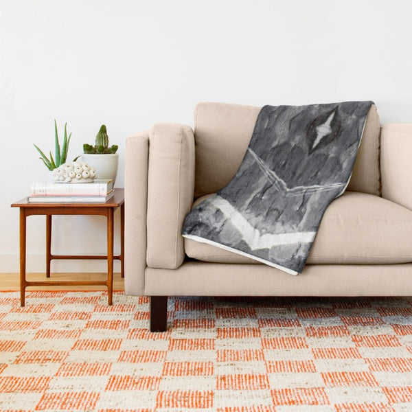 HARD RAYS GREY THROW BLANKET - GLUSH/ - 6