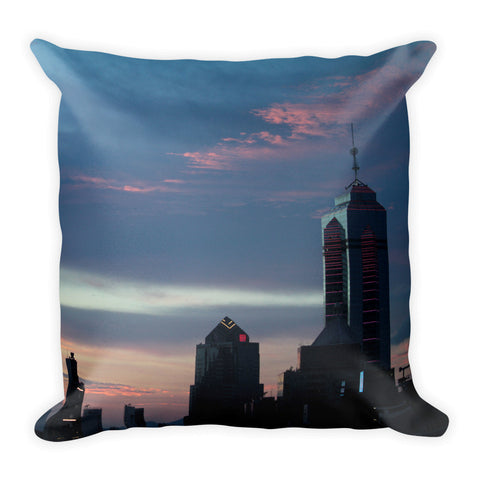 Dreamy Blue HK Skyline Square Pillow - GLUSH/ - 1