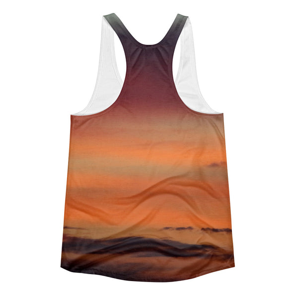 Orange ombre gradient Women's yoga top - GLUSH/ - 2