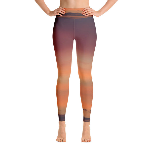 Orange Sky Yoga Leggings