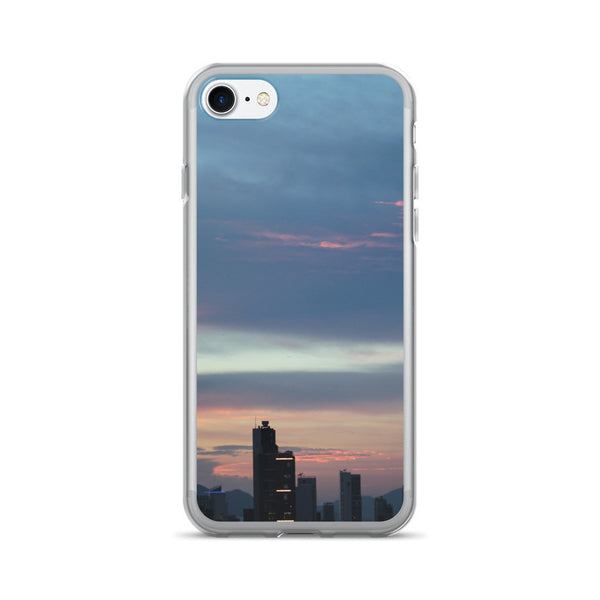 Blue Hong Kong Skyline iPhone 7+ Case - GLUSH/ - 1