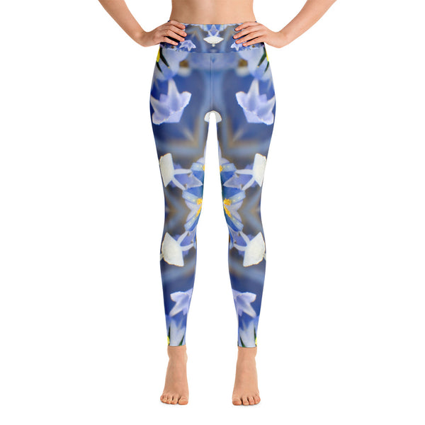 Flower Mirror Yoga Leggings