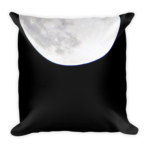 Minimal Black and White Super Moon Square Pillow for your stylish home - GLUSH/ - 2