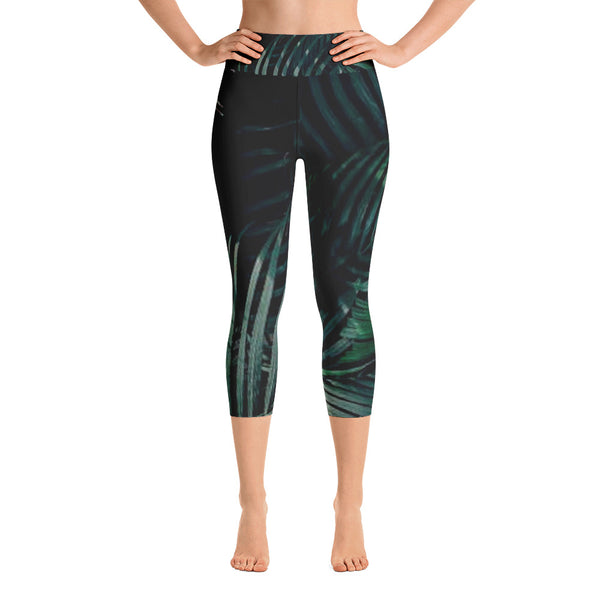 Calm Palm Yoga Capri Leggings