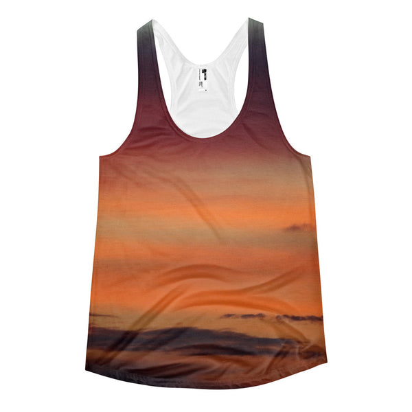 Orange Sunset Women's racerback tank top - GLUSH/ - 1