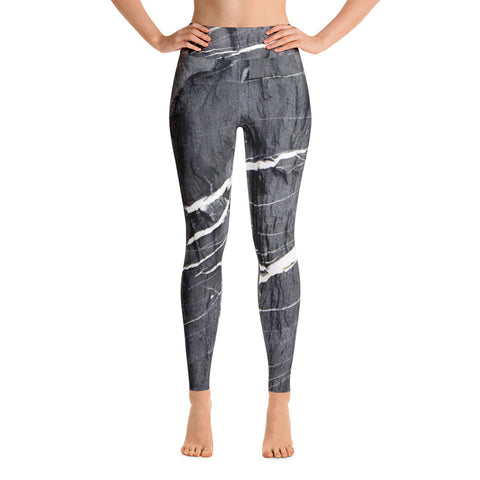 Grey Marble Yoga Leggings
