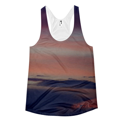 Gradient Purple Sky Women's racerback sports tank - GLUSH/ - 1