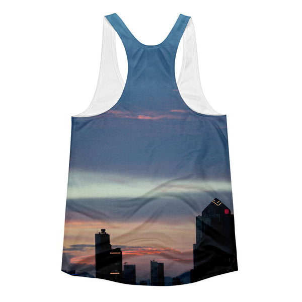 Blue sky sunset Women's racerback yoga top - GLUSH/ - 2