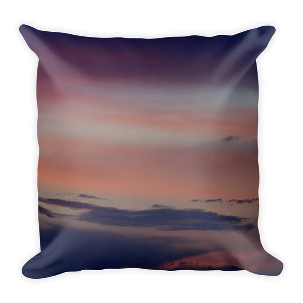 Abstract Purple sunset Square Pillow - GLUSH/ - 1