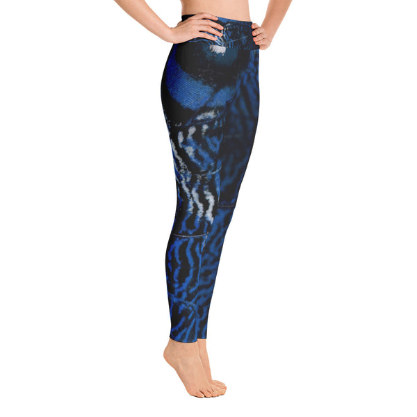 Midnight Blue Butterfly Yoga Leggings