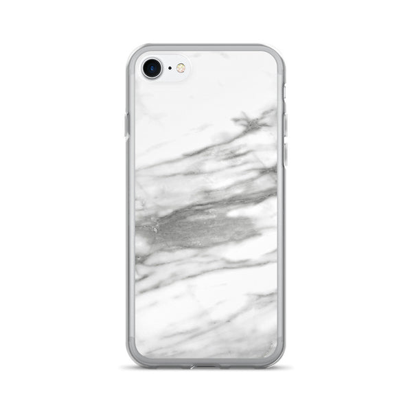 Minimal White Marble iPhone 7 Case - GLUSH/ - 1