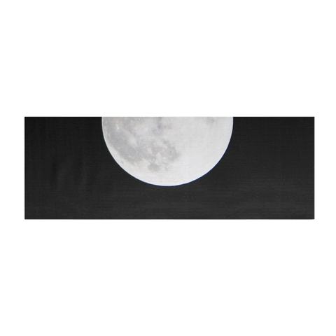 Minimal Black and White Super Moon Yoga Mat - GLUSH/