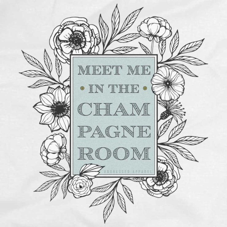 champagne room sleeveless tee
