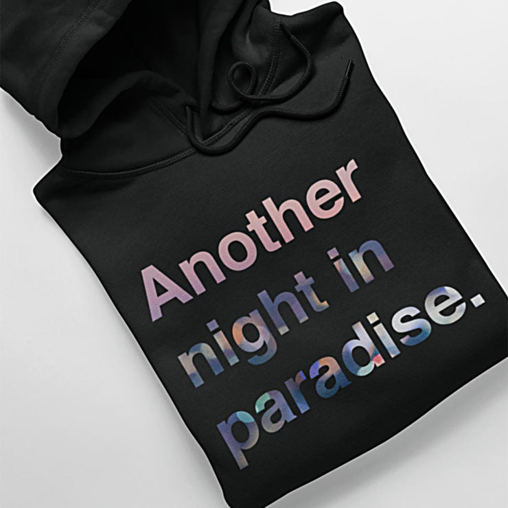 another night in paradise cropped hoodie