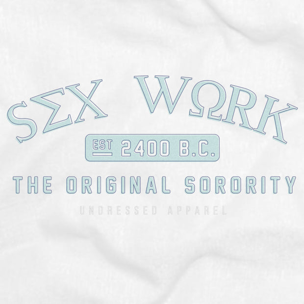 blue sorority fitted tee