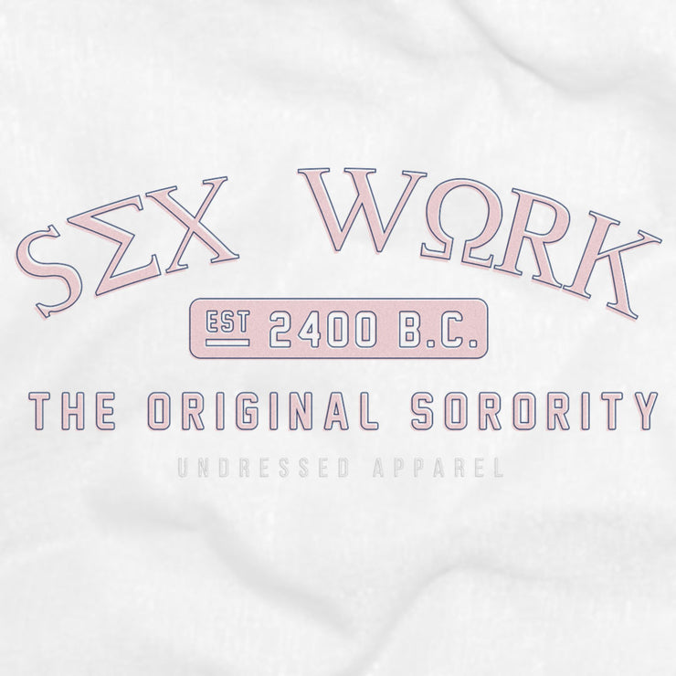 pink sorority fitted tee