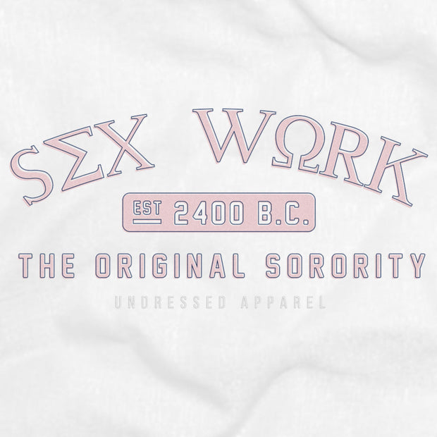 pink sorority sleeveless tee