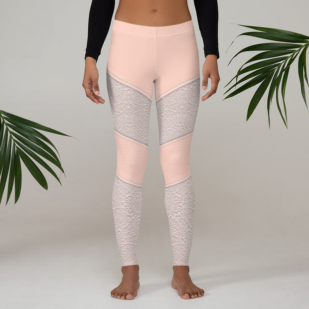 lace illusion leggings