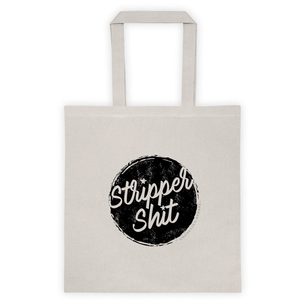 strippah sh!t lightweight cream tote bag