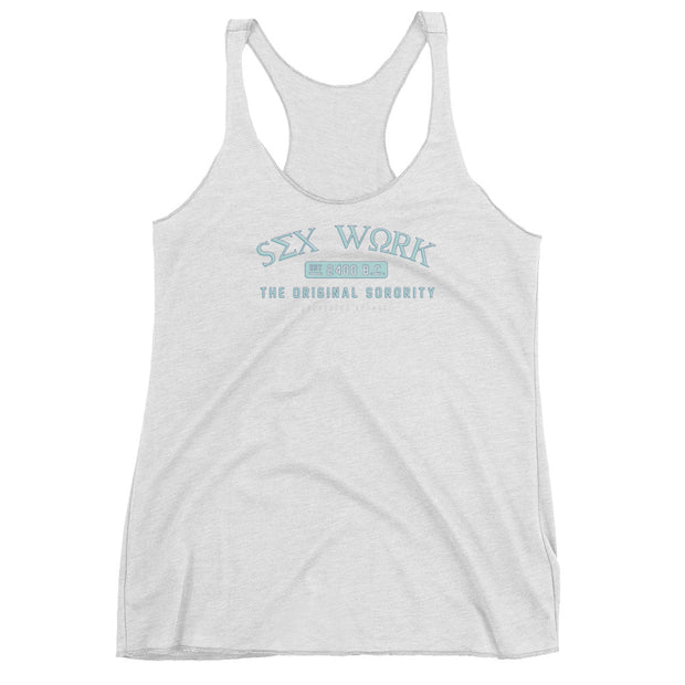 blue sorority vintage tank