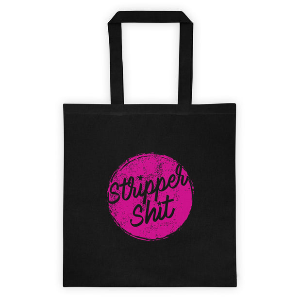 strippah sh!t lightweight black tote bag