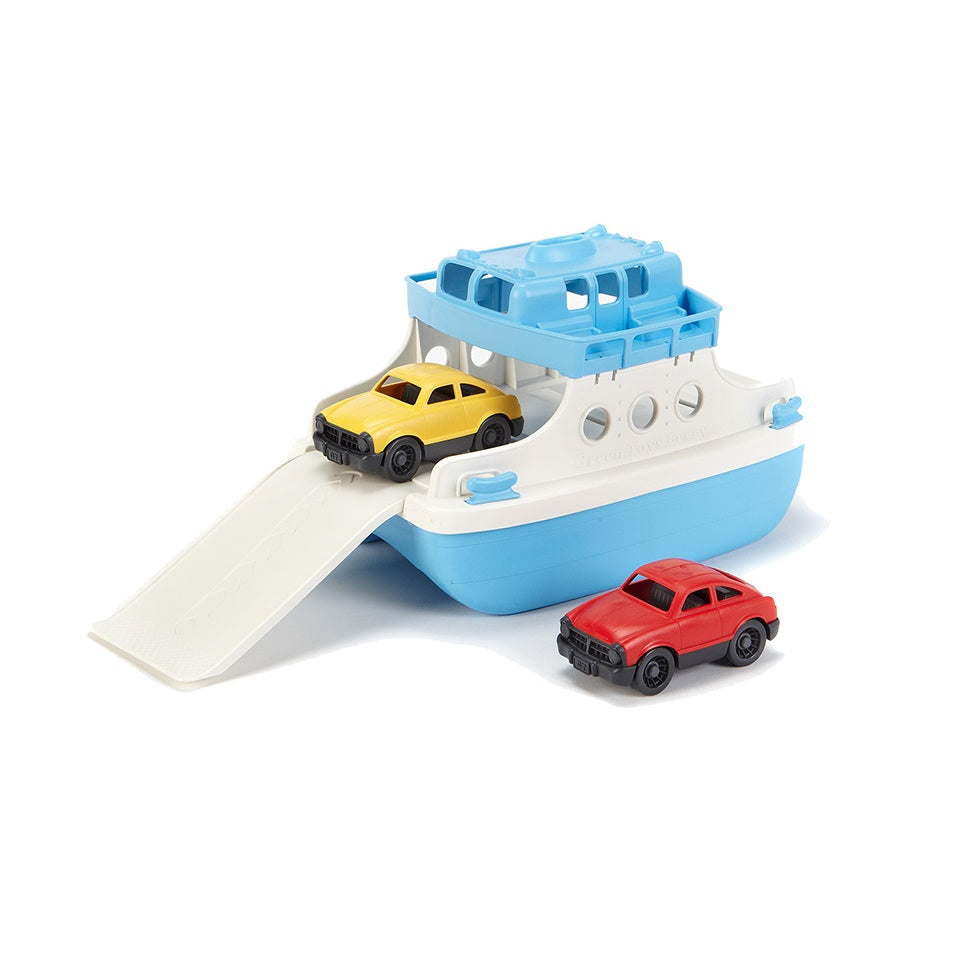 Green Toys Ferry Boat with 2 Mini Cars Bath and Water Toy 100/% Recycled BPA free