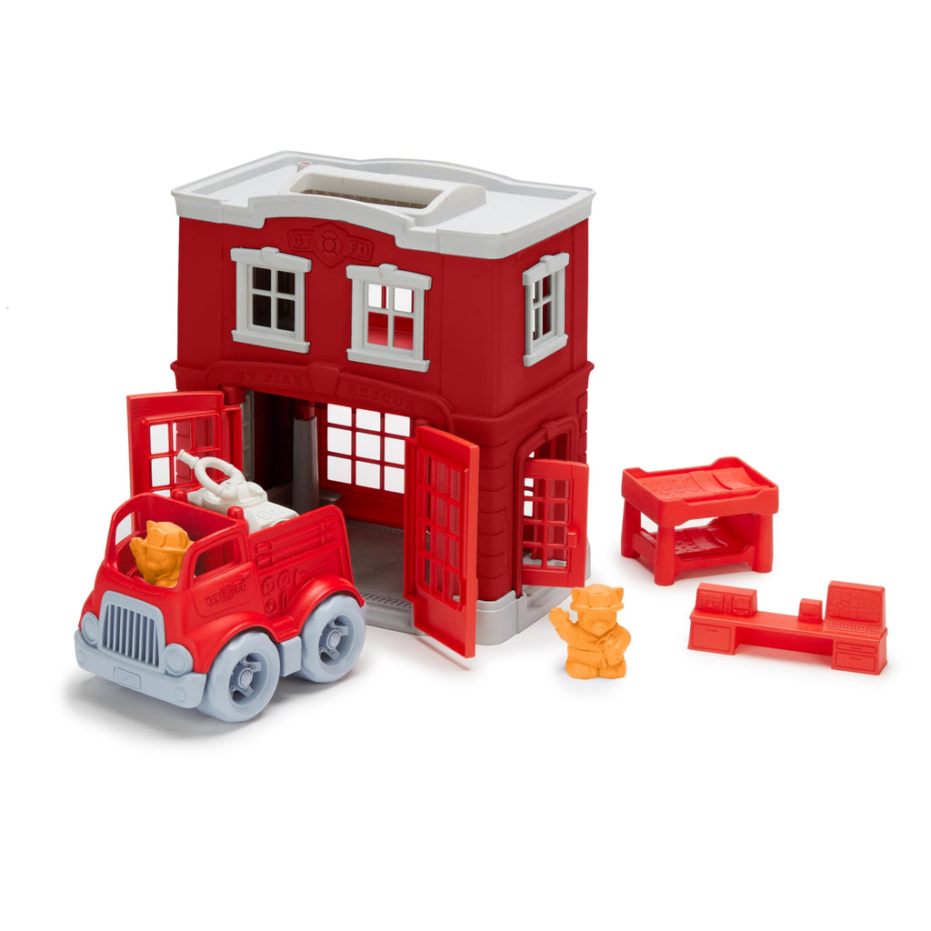 Green Toys Fire Station Playset 100/% Recycled BPA free