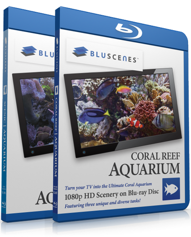 Our Best Blu-ray Aquarium Offer - BluScenes Coral Reef Aquarium and BluScenes Scenic Aquarium 2-Pack with Free Digital Copy Download