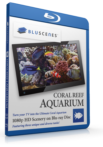 BluScenes Coral Reef Aquarium Blu-ray with Digital Copy Download