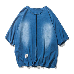 Washed denim Color Men T-Shirt