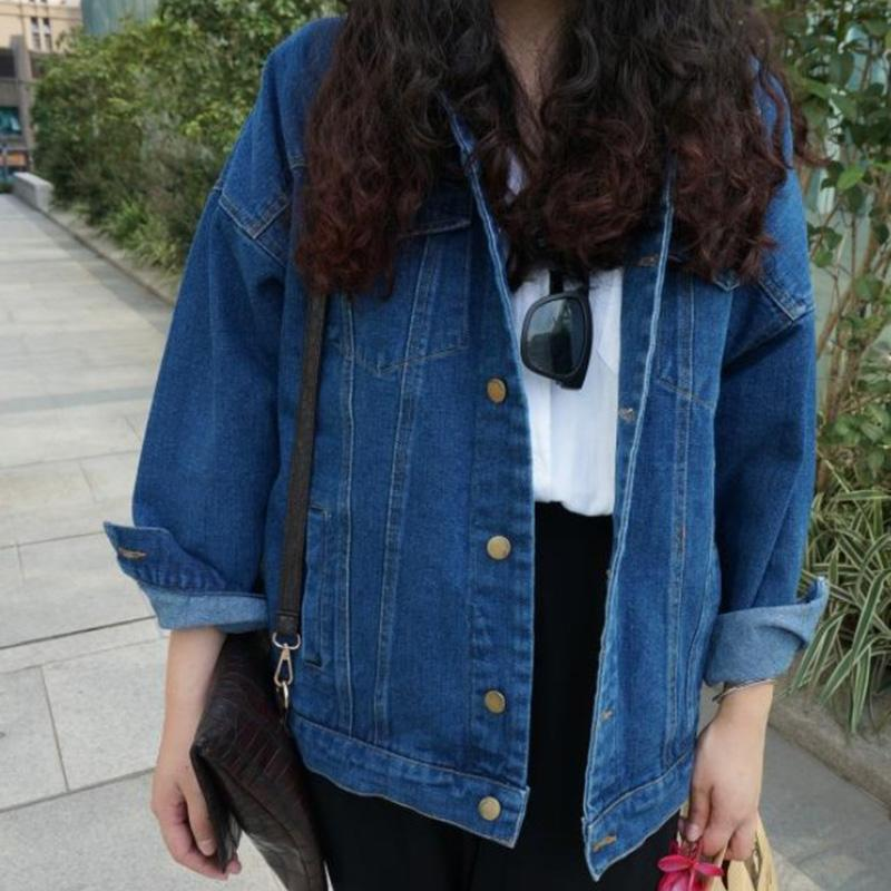 Vintage Harajuku Oversize Female Denim Coat