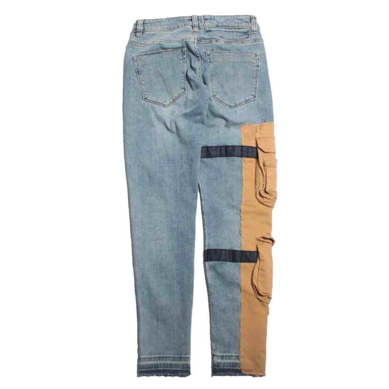 Strapped Denim Cargo Pants