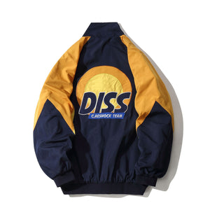 Funny Diss Embroidery Track Jacket