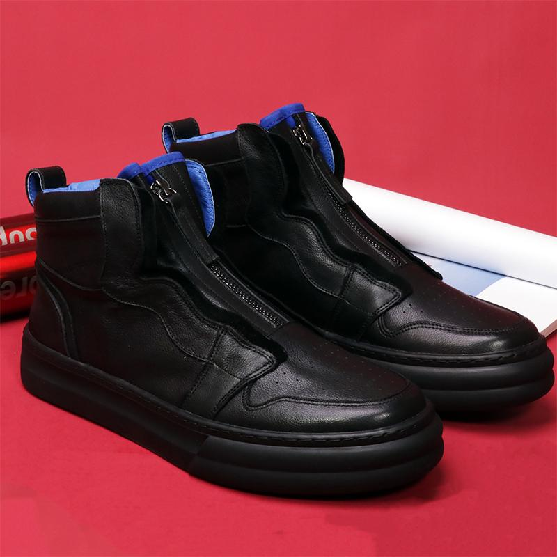 Retro Heavy Craft Leather High-top Boots