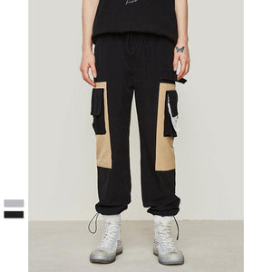 Patchwork Side Pocket Cargo Harem Pants
