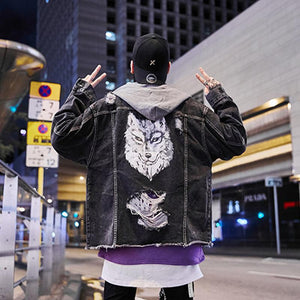 3D Wolf Hooded Jacket
