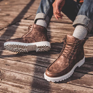 Chelsea Style Retro Leather Boots
