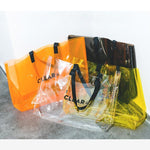 Multicolor Clear PVC Travel Bag