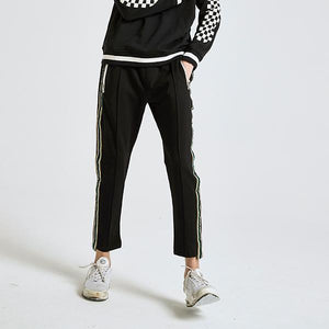 Side Golden Striped Jogger Pants