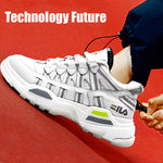 Fashion Light Breathable White Dad Sneakers(Men)