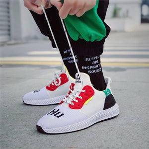 Spring Fashion Lace-Up Rubber Sole Homme Trainers