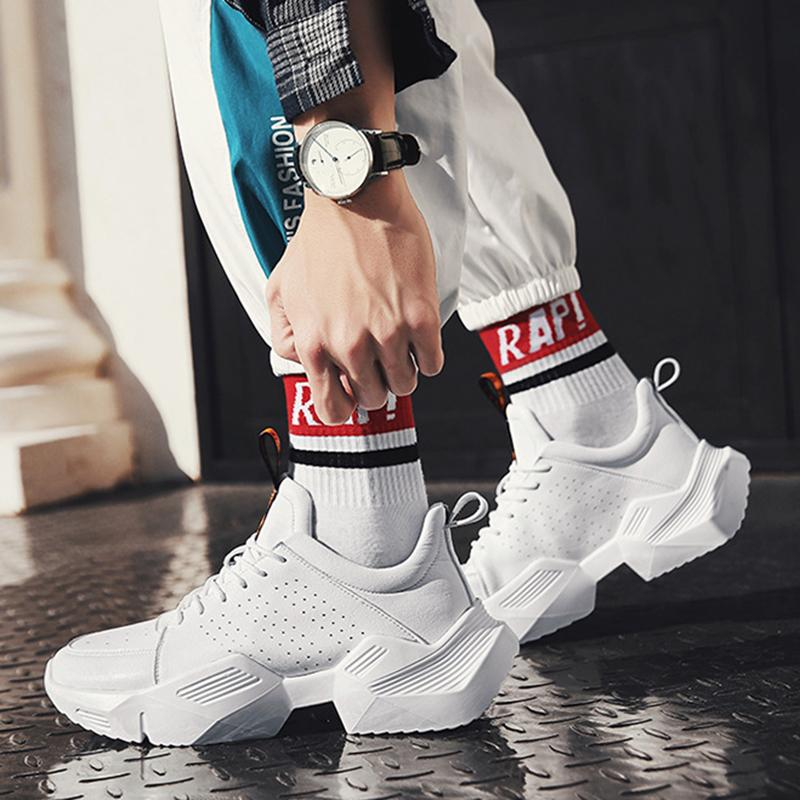 Breathable Hole High Top Platform Shoes