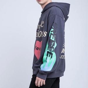 19ss Kanye West Kids See Ghost Logo Flocking Women Men Hoodies