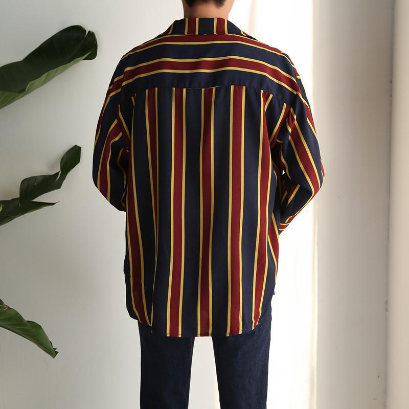 GD Chiffon Pajamas Striped Shirts