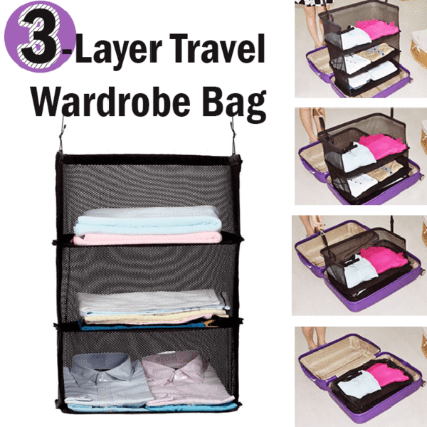 3 Layer Travel Storage Wardrobe Bag