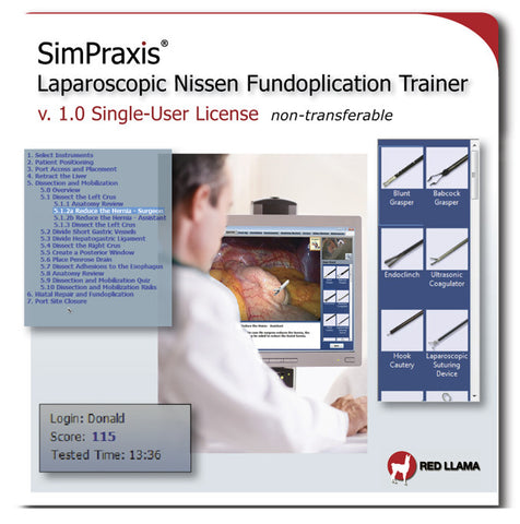 SimPraxis® Laparoscopic Nissen Fundoplication Trainer