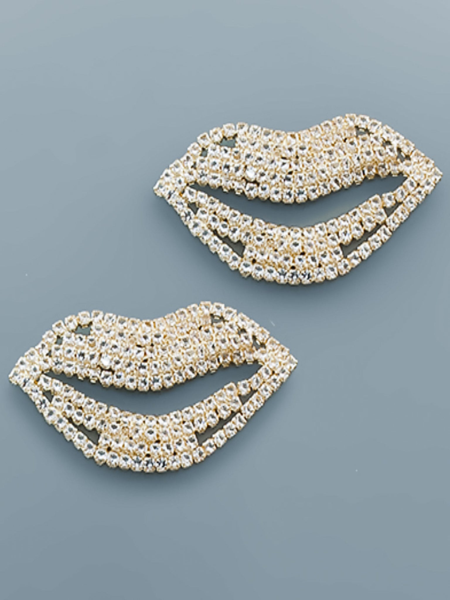 CZ Lips Earrings