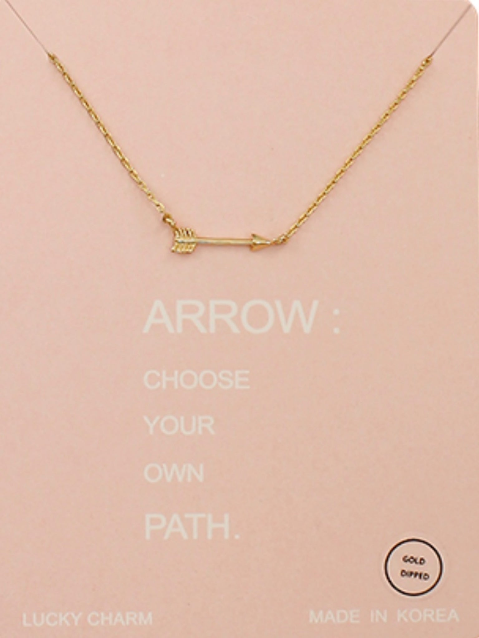 Arrow Necklace Choose Your Own Path